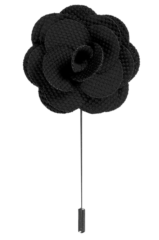 Lapel Flower Pin   Black Shop online now   USA