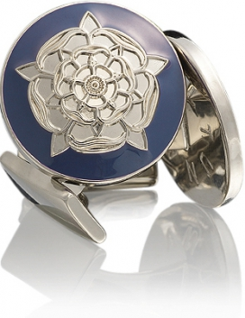 Tudor Rose Silver Blue