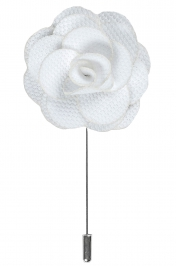 Lapel Flower Pin | White