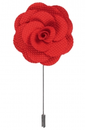 Lapel Flower Pin | Red