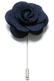 Lapel Flower Pin - Navy