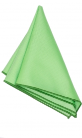Hanky Square Polyester - Apple Green