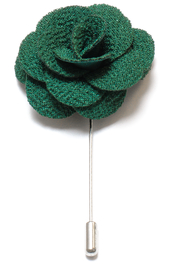 Lapel Flower Pin - Dark Green