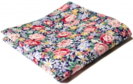 Hanky Cotton Collection Blue Flowers