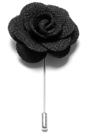 Lapel Flower Pin - Black