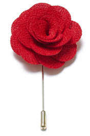 Lapel Flower Pin - Red