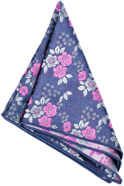 Navy Floral Hanky