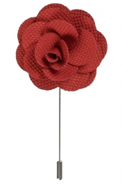 Lapel Flower Pin | Rusty Red