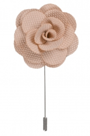 Lapel Flower Pin | Beige