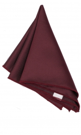 Hanky Square Polyester - Burgundy