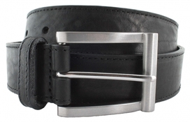 Leather Belt Men Classic Black