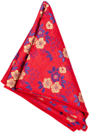 Red Floral Hanky