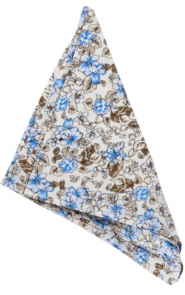 Näsduk Floral | White Brown