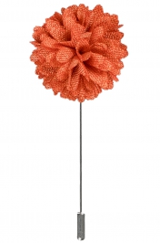 Lapel Bouquet Pin | Tangerine