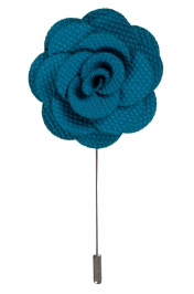 Lapel Flower Pin | Teal