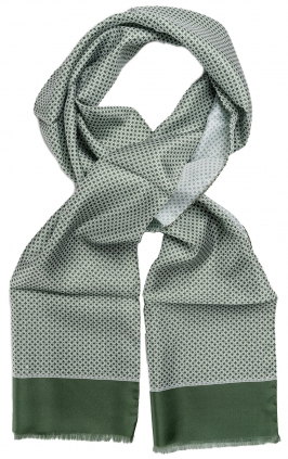 Linked Silk Scarf | Grön