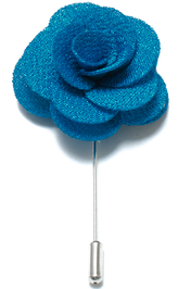 Lapel Flower Pin - Blue