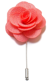 Lapel Flower Pin - Light Coral