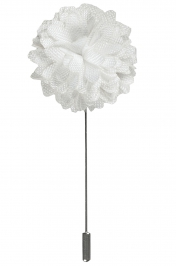 Lapel Bouquet Pin | White