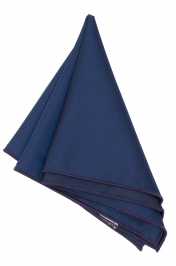 Hanky Square Polyester - Navy