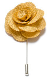 Lapel Flower Pin - Yellow