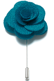 Lapel Flower Pin - Teal